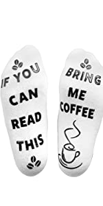 If you can read this bring coffee socks gift fathers mothers christmas stocking novelty funny day