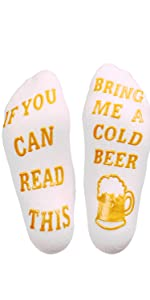 If you can read this bring me beer socks gift fathers mothers christmas stocking novelty funny day