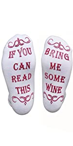 If you can read this bring me wine socks gift fathers mothers christmas stocking novelty funny day