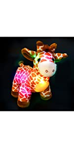 LED giraffe stuffed animal