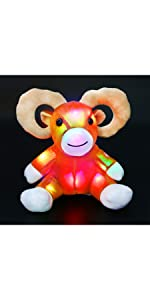 LED goat stuffed animal