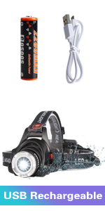 headlamp usb rechargeable 18650 battery head lamp light flashlight for adults camping working hunt