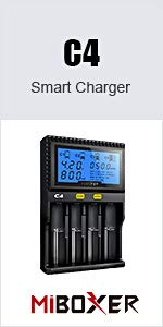 C2V2 smart charger 4 charging slot bay channel recharge chargeable for multi batteries cylinder good