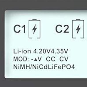 Smart Universal Battery Charger,MiBOXER 18650 Battery Charger 8 Bay LCD Display Li-ion LiFePO4 Ni-MH