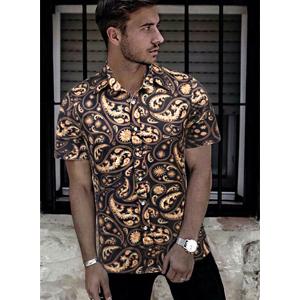 mens short sleeve luxury shirt