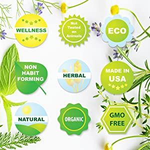 Made in USA, Non-GMO, Organic, Natural, Cruelty Free, Herbal, Safe & Effective