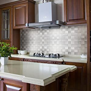 Yipscazo Peel And Stick Tile Backsplashes Stainless Steel Stick On Wall Tiles For Kitchen Sample