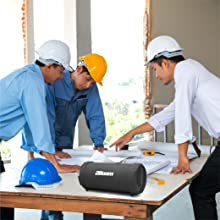construction site speakers beats boating speakers dock speakers planning site workers working music