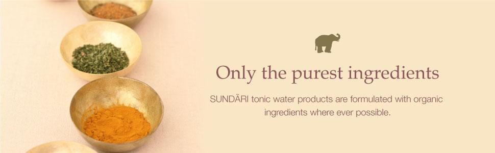 sundari, pure, ingredients, organic, neem, aloe, rose, lemon, algae, omega 3
