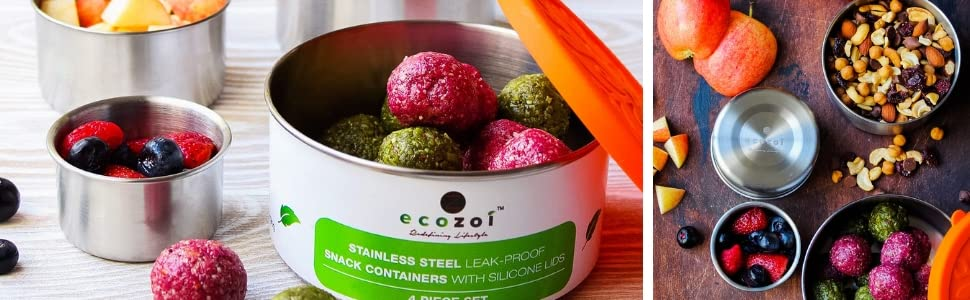 eco lunch box ecozoi stainless steel sustainable green leak proof bpa free storage container snack