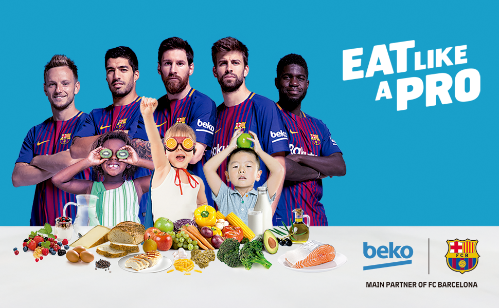 beko fc barcelona fcb rakitic suarez messi pique umtiti childhood healthy eating