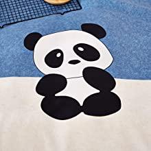 cute kids bedding bed set girls boys duvet cover comforter insert blue beige sheet pillow cases