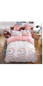 unicorn comforter set duvet insert cover kids bedding girls boys teenagers bed set pillow