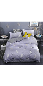 cat bed duvet cover set coverlet bedspread soft breathable cute sheet pillow