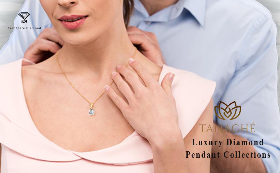 Diamond pendant necklace 1