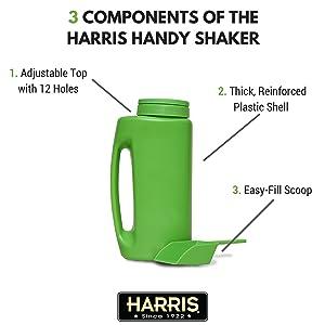 components of harris handy shaker