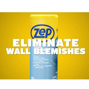 eliminate wall blemish blemishes scuffs makeup dirt crayons pro quality zep cleaning