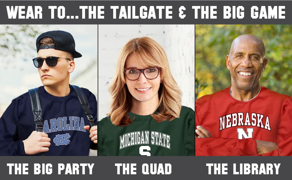 Wear to, the tailgate and the big game. The big party, the quad, and the library