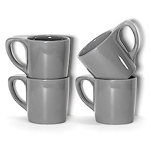 notneutral lino dark gray mugs stacked