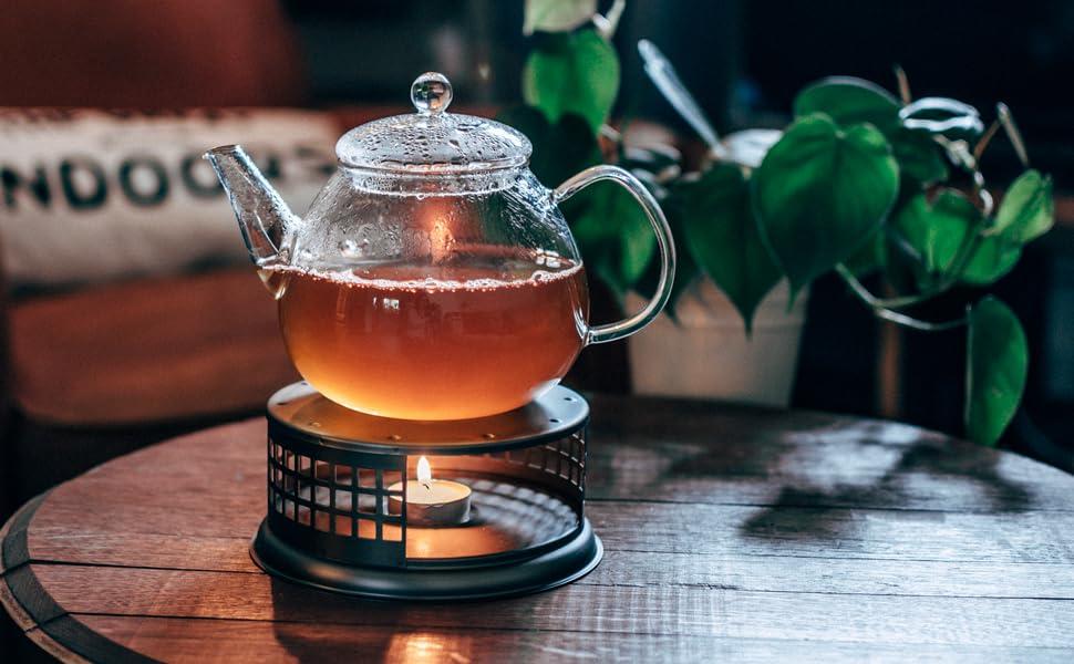 GROSCHE nairobi teapot and food dish warmer lifestyle