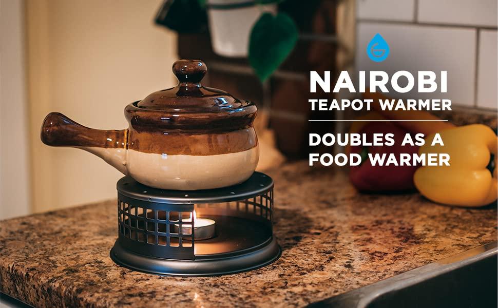 GROSCHE nairobi teapot and food dish warmer  used to heat food
