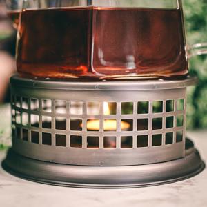 GROSCHE nairobi teapot warmer closeup of design