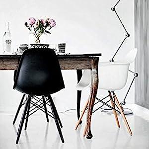 Rayleg, Black, Wood, Side Chair
