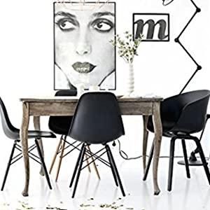 Rayleg, Black, Black Leg, Wooden Chair, Plastic