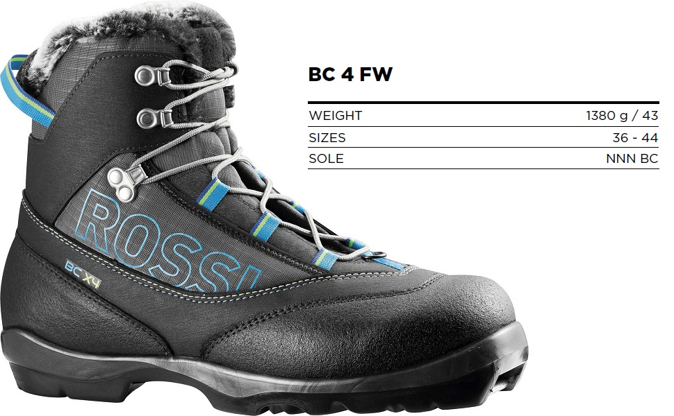 rossignol bc 4 fw nordic back country ski boot