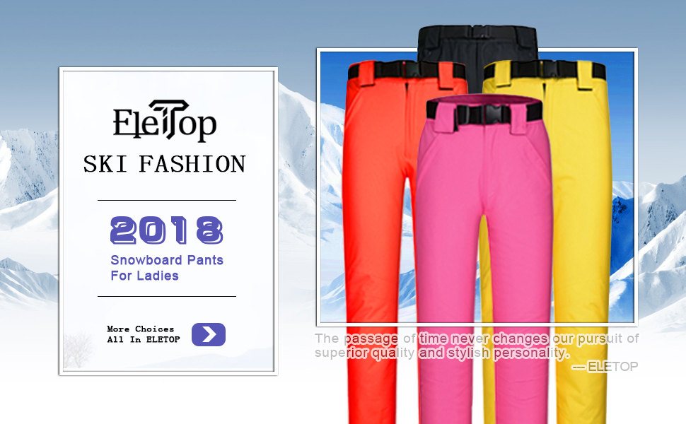 snow pants ski pant snowboard insulated pants outdoor sports wear waterproof thermal performance
