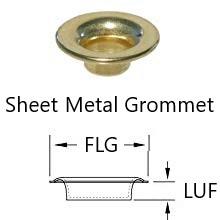 sheet metal neck plain teeth grommet and washer stimpson press machine marine grommet