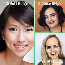 Better'n ur skin organic foundation, vegan, cruelty free, gluten free, light skin