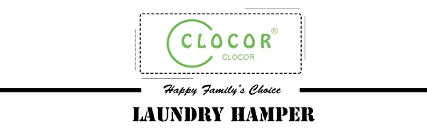 CLOCOR laundry hamper will be a good helper for you to tidy up your family!