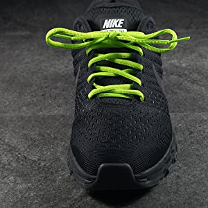 Lime Neon Green Oval Athletic Shoelaces