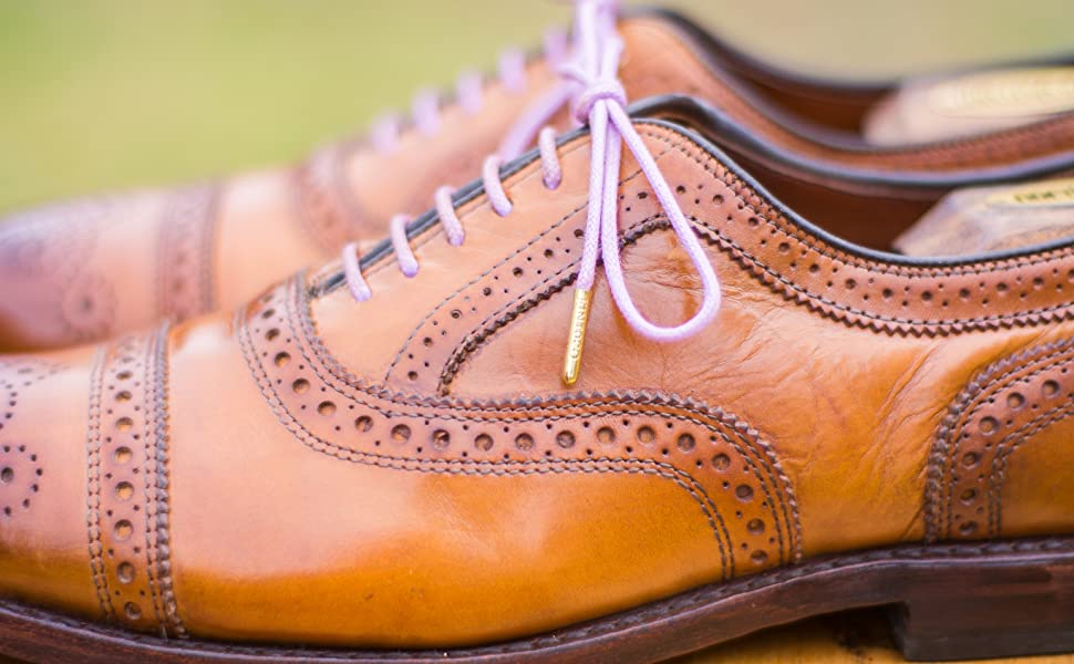 Allen Edmonds Strand with Fintoco Purple Shoelaces