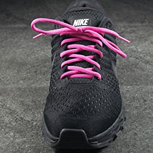 Hot Neon Pink Oval Athletic Shoe laces