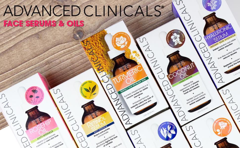 Advanced clinicals serums oils face