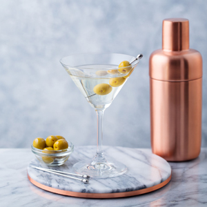 Martini with Olives at home