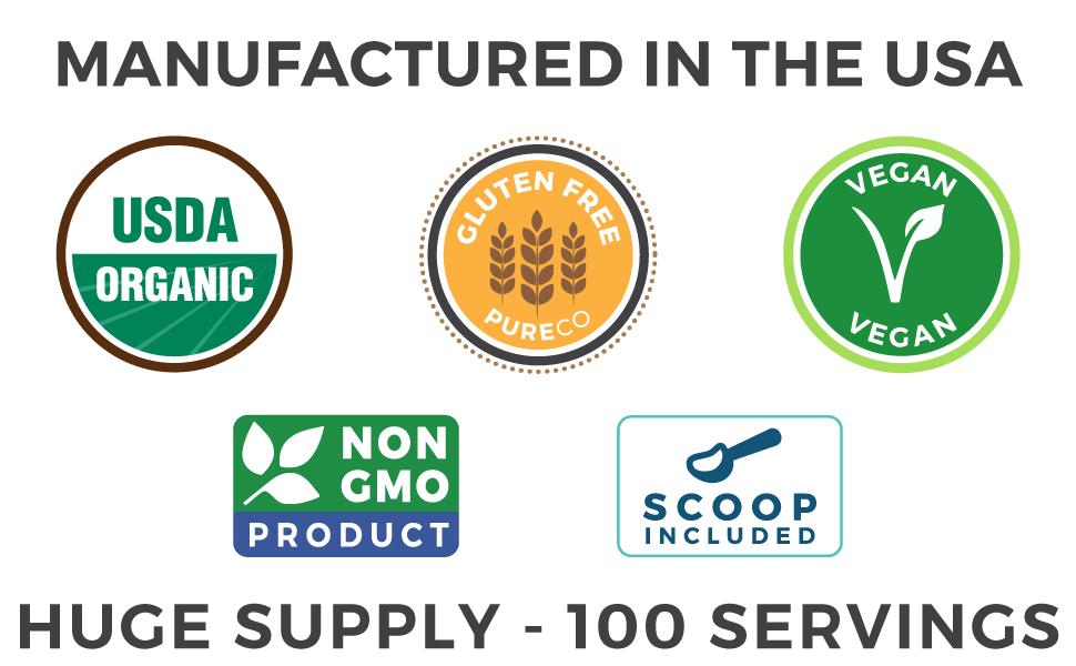 Organic Cranberry Powder - USA Organic, Gluten Free, Vegan, Non GMO, 100 Servings