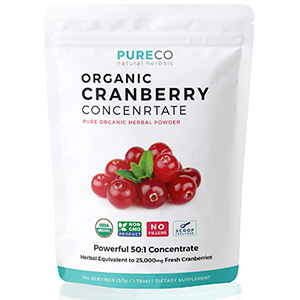 Pure Co: Organic Cranberry Concentrate Powder