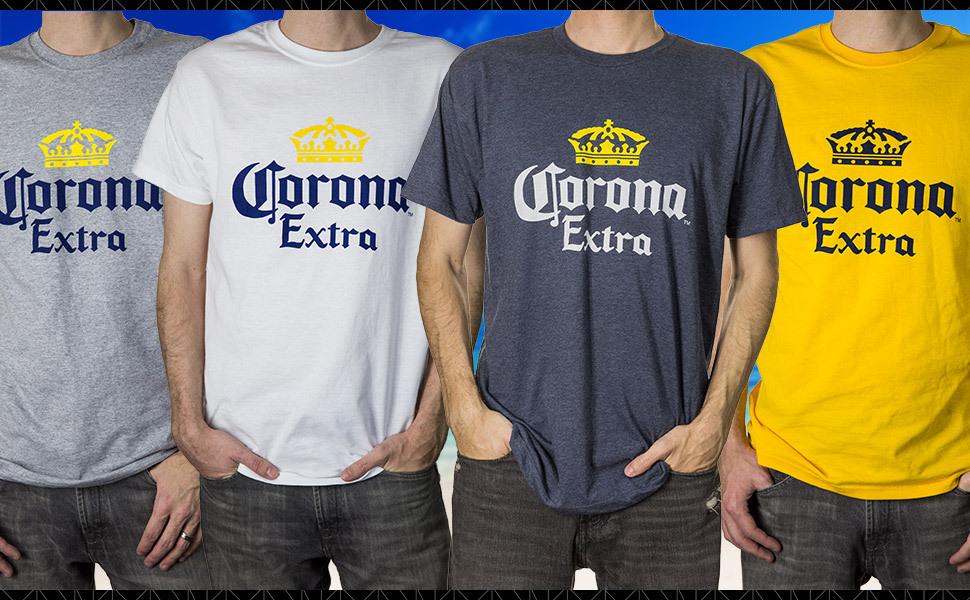 Corona Extra Crown Logo T Shirt Tee Top Official