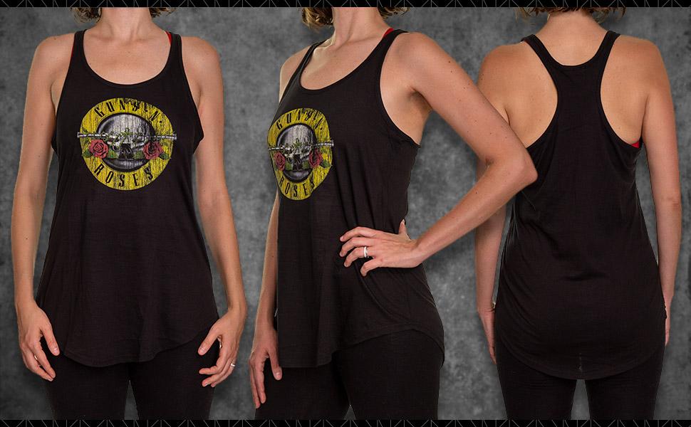 Guns N Roses Flowy Ladies Tank Top Official Merchandise Clothing Apparel
