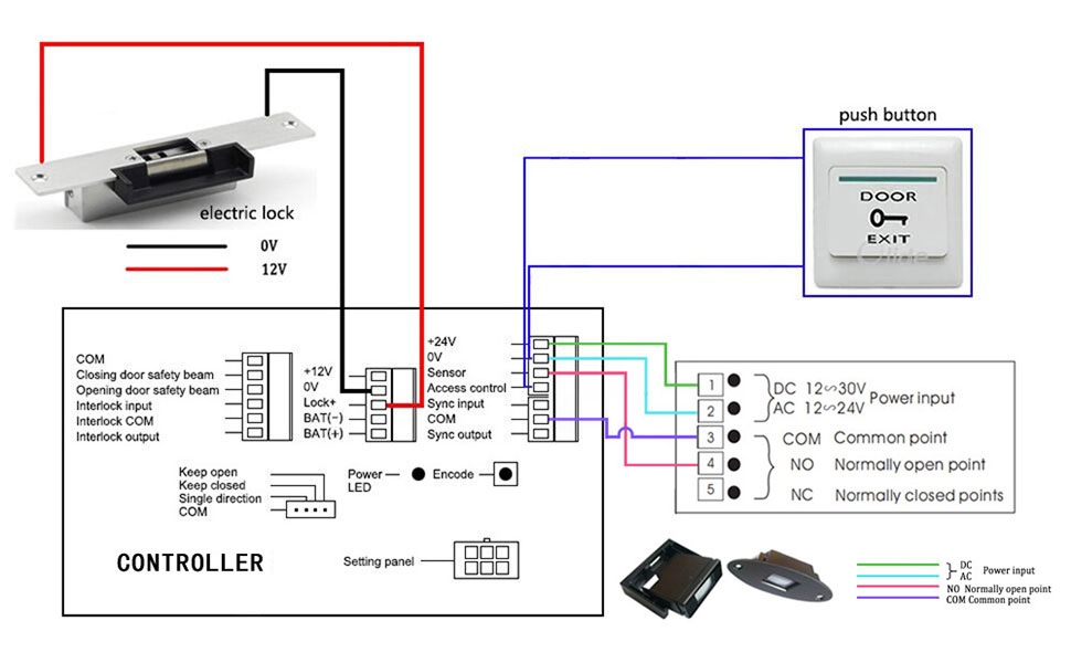 push button with SW100 wiring diagram