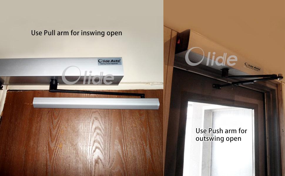 Handicap Door Opener,for Disabled People, Low Energy ADA Swing Door Operator arm installation