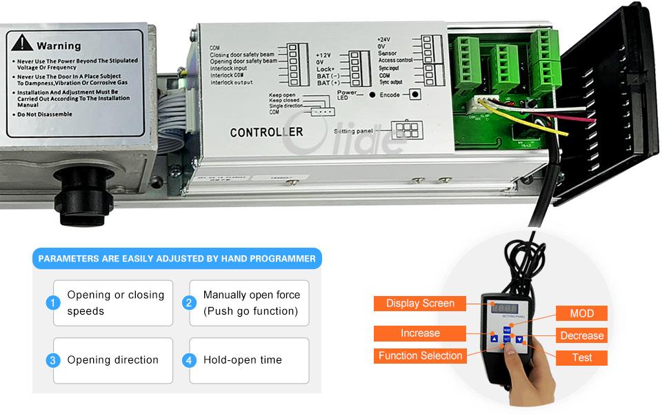Handicap Door Opener,for Disabled People, Low Energy ADA Swing Door Operator Control Panel