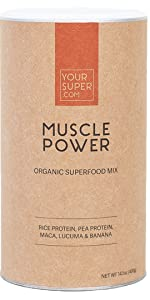 muscle power whey protein smoothie mix powder supplement post recovery drink mix