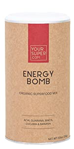 energy powder your super superfood supplement caffeine smothie mix drink