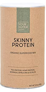 skinny protein weight loss hunger control smoothie powder mix formula super green supergreens