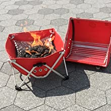 charcoal, basket, flame, resistant, grate