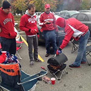 tailgating, road trip, travel, huskers, grilling